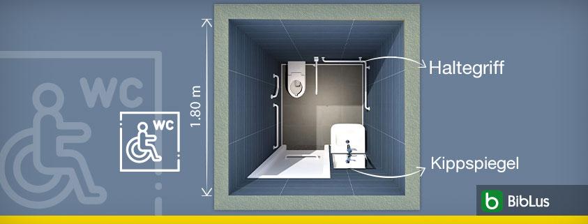 Titelbild eines barrierefreien Bads auf dem ein Grundriss zu sehen ist