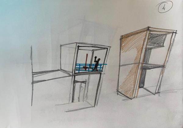 Bild mit Skizze in der die Details der Wände dargestellt sind