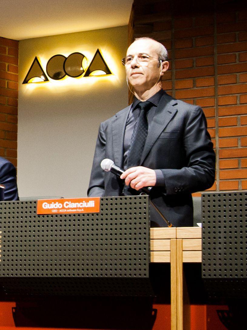 Foto vom CEO von ACCA software Guido Cianciulli