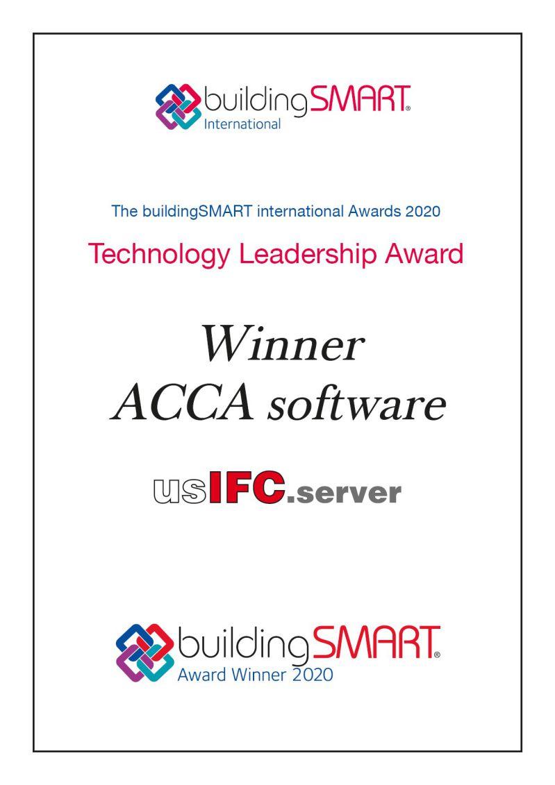 Bild des Pergaments der Auszeichnung von buildingSMART