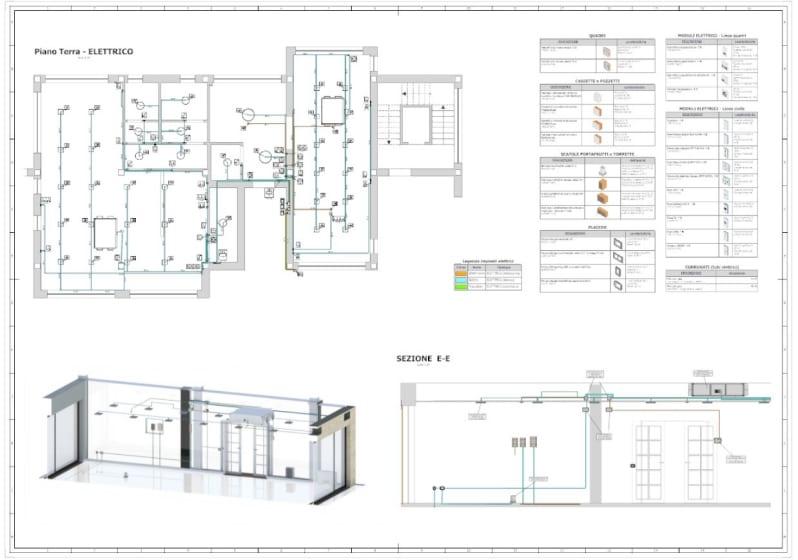Darstellung des mit Edificius erstellen Ausführungsplans der TGA-Anlage
