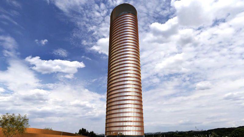 Bild mit Außenansicht des Wolkenkratzers