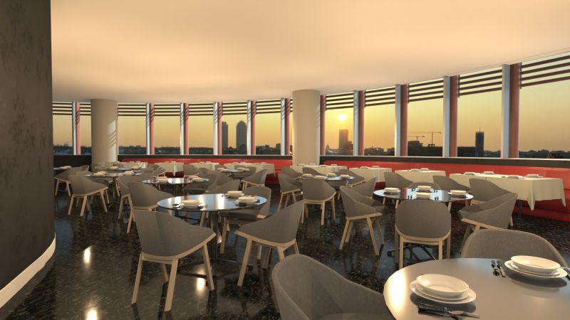 Bild mit Rendering des Restaurants mit Edificius erstellt