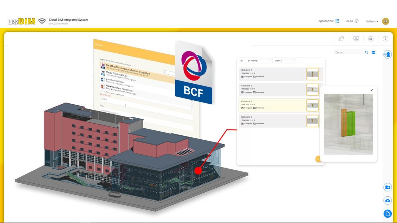Bild mit Schnittstelle des BIM-Collaboration Formats