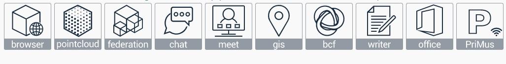 Symbole der 10 kostenlosen Apps von usBIM