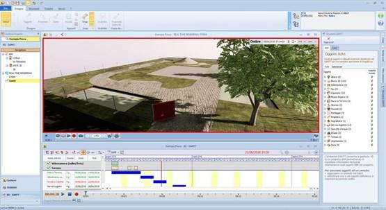 Visualisierung des 4D BIM-Modells in Edificius (ACCA software)