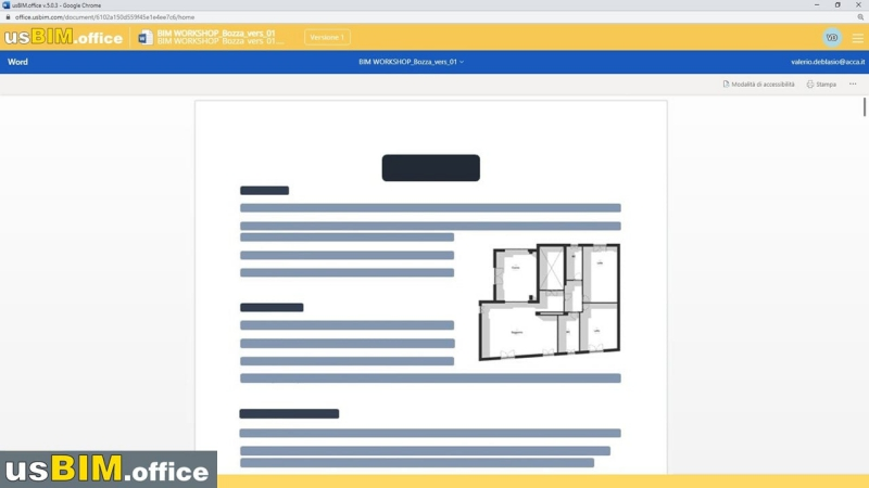 In der Cloud an Office-Dokumenten mit usBIM.office arbeiten