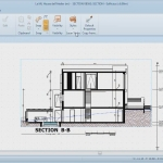 A detailed view of one of the many construction drawing that can be produced automatically with edificius
