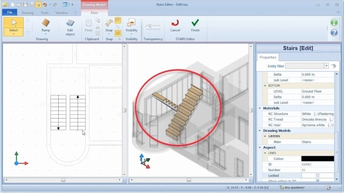 stair ramp characteristics