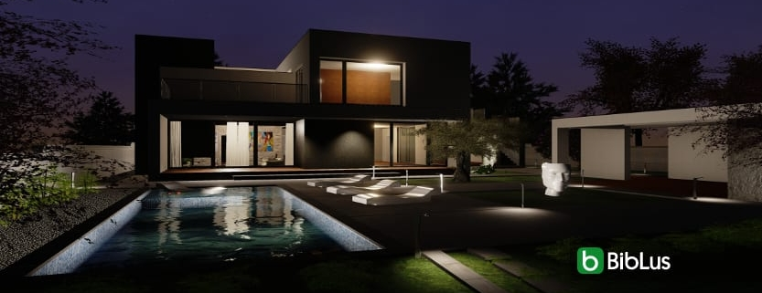 C-House project remodelled with an architectural BIM design software