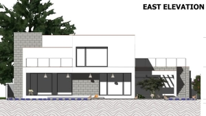 C-House - East elevation view