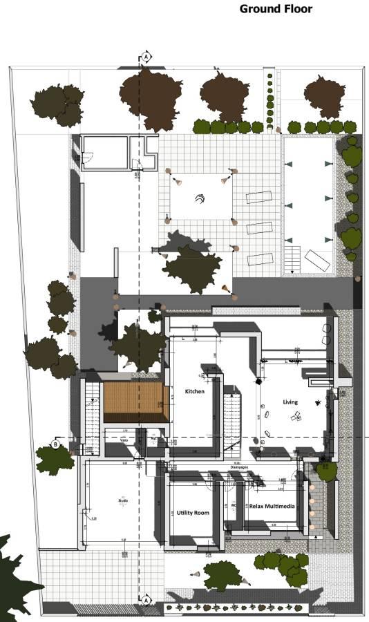 C House - Ground floor plan in Edificius