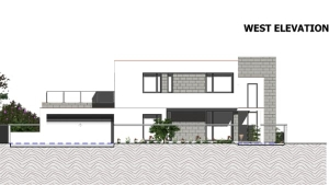 C-House - West elevation view