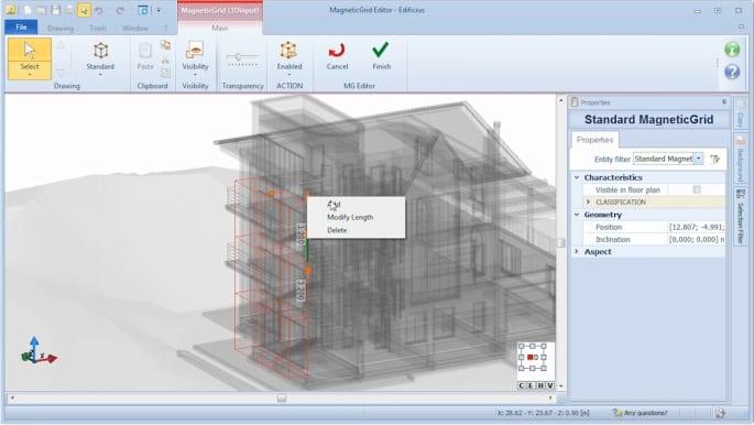 Adding new MagneticGrid elements - Edificius BIM software