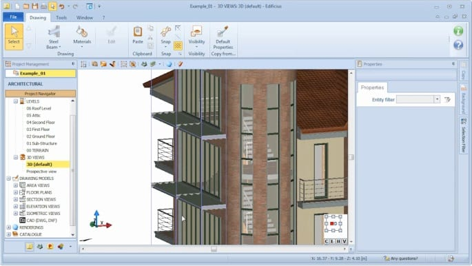 Automatic generation of BIM objects 03 - Edificius BIM software