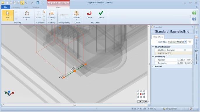 MagneticGrid customisation - Edificius BIM software