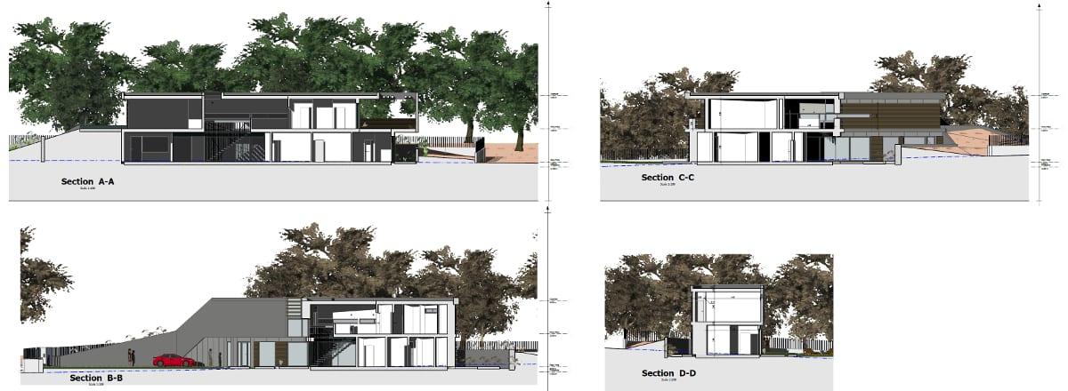 Casa Roncero - Elevation views