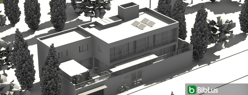 Designing a single-family home with a BIM software Edificius
