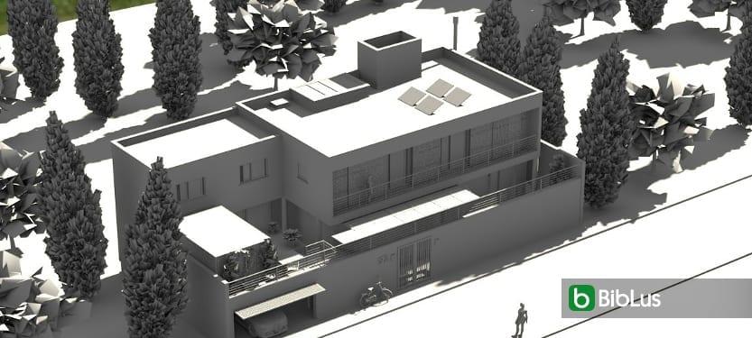 Designing a single-family home with a BIM software Edificius