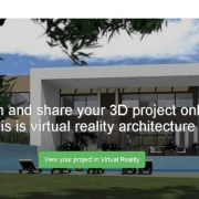 3D Model of a BIM project published and shared on the web