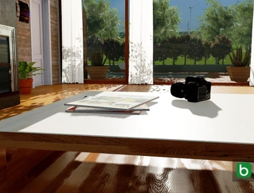 producing a 360° spherical photo with a 3D architectural BIM design software_Edificius