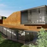 Facade Daegu Gosan Public Library with Edificius
