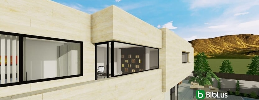 Creating a corner window with a BIM software Edificius