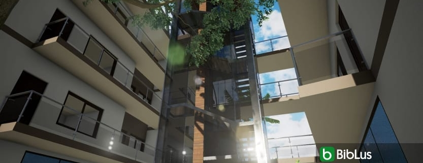 stairs in steel and glass with a BIM software Edificius