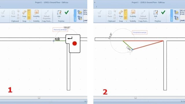 Horizontal envelope: measurements insertion_BIM software_Edificius