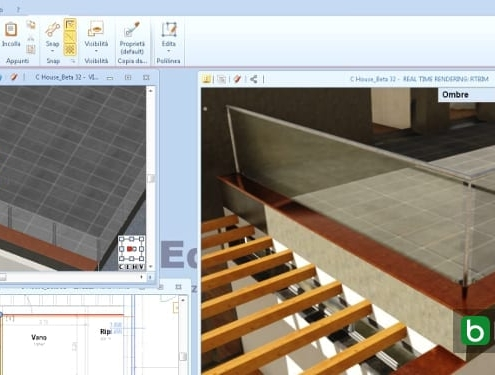 designing buildings with a BIM software Edificius