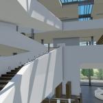 Stairs parapet Daegu Gosan Public Library with Edificius