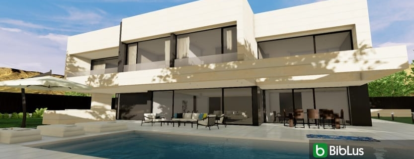 Designing a villa and garden with a BIM software Edificius