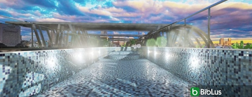 Planning an external swimming pool with a BIM Edificius