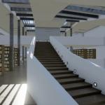 Stairs Daegu Gosan Public Library with Edificius