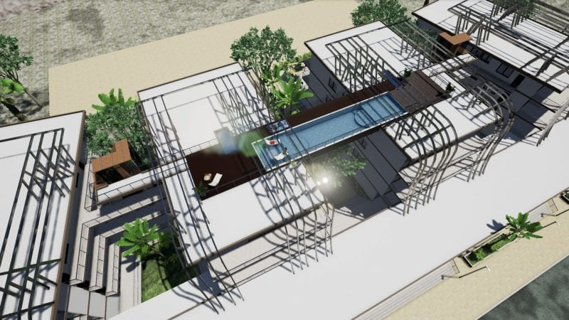 Nahil Kan swimming pool stairs and walkaways Edificius