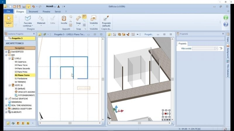 Glass case inserting Nahil Kan stairs Edificius software