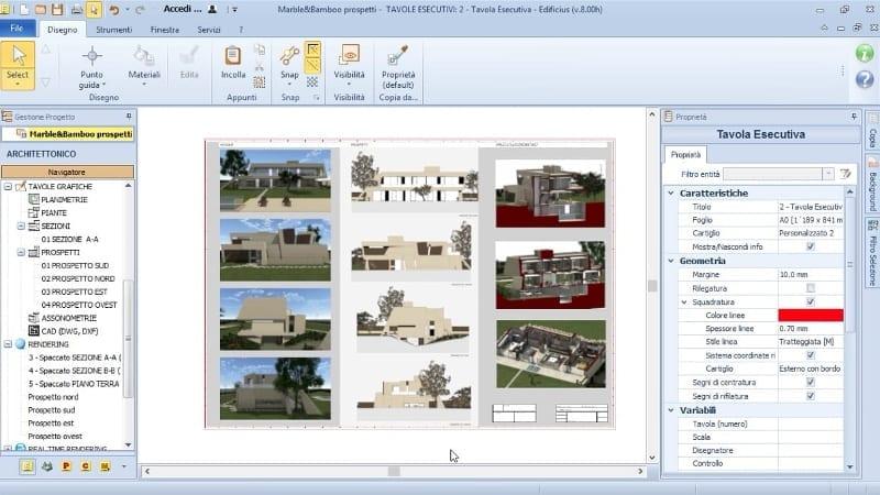 Working drawings creation-MarbleBamboo-Edificius-BIM software
