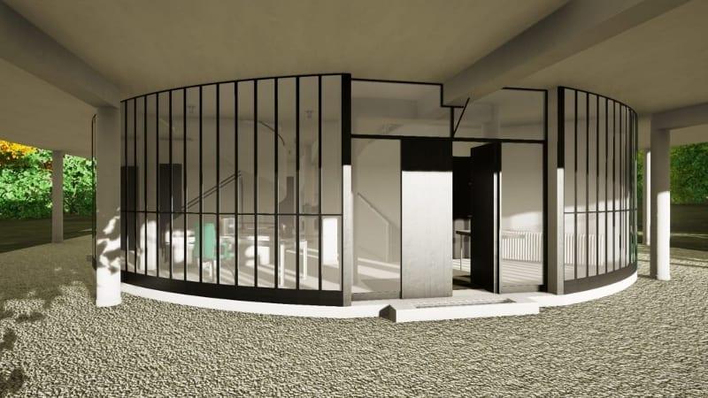 Villa Savoye Designed With A Bim Software Part 2 Biblus