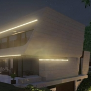 Designing a sloping facade with a BIM software Edificius