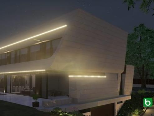 Designing a sloping facade with a BIM software Edificius