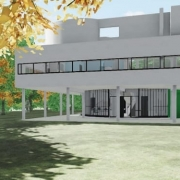 Villa Savoye designed with a BIM software Edificius