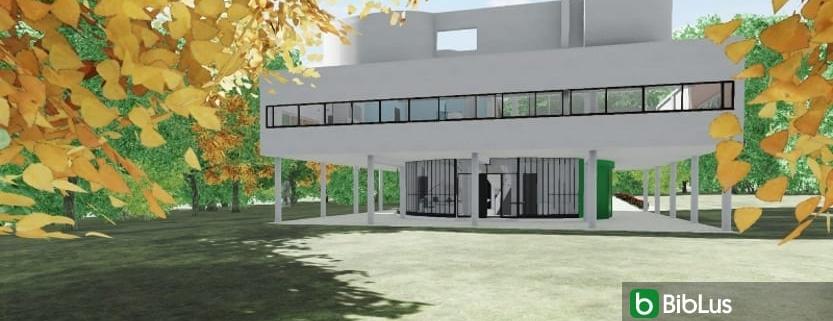 Villa Savoye designed with a BIM software Edificius