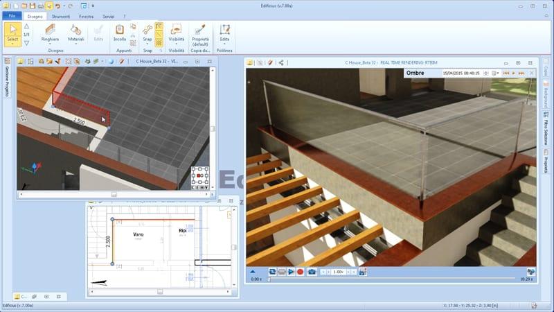 Design of parametric objects in the BIM software Edificius