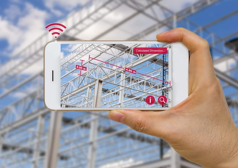 Construction survey with augmented reality