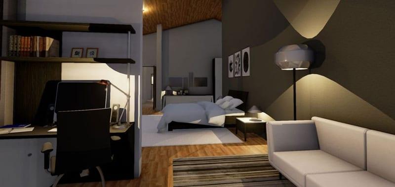 Studio e camera da letto - BibLus - EN