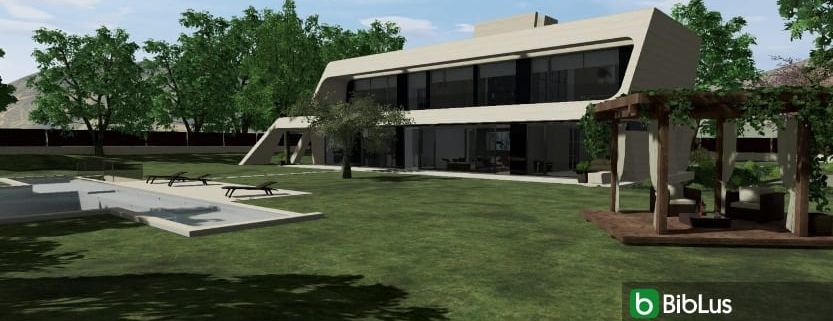 Planning a villa outdoor spaces with a software Edificius