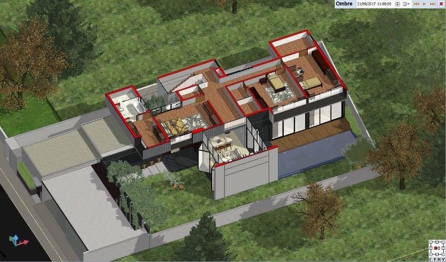First Floor- isometric cut-away view - BIM software Edificius
