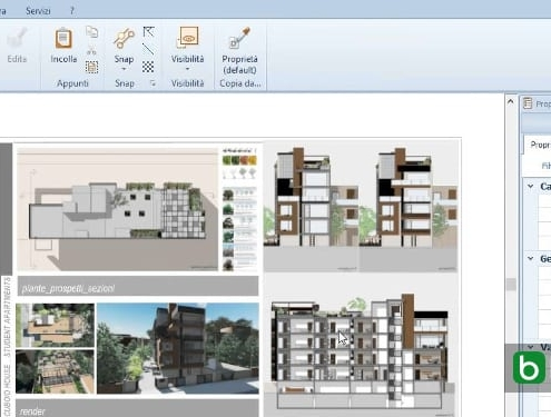 Editing a project in order to get a dynamic update on all model views Software BIM Edificius