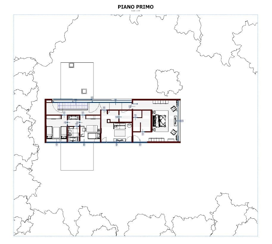 Plan-view-First-Floor-Casa-En-Los-Cisnes-software-BIM-Edificius