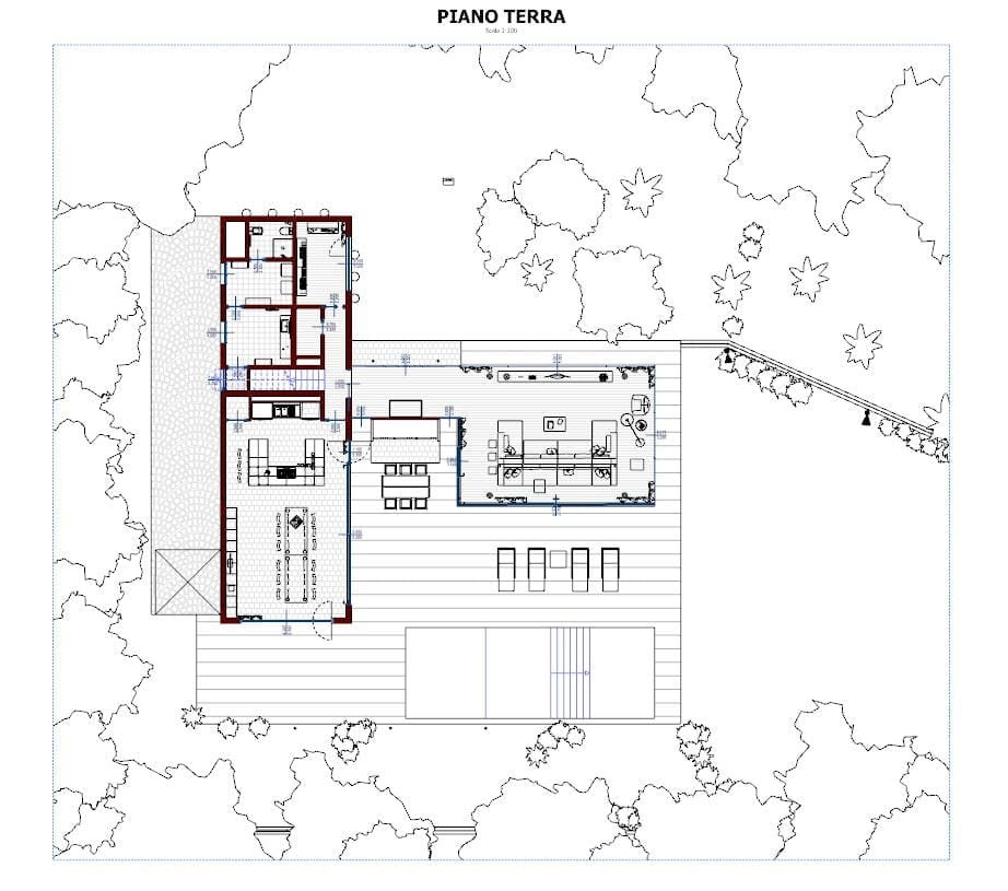 Plan-view-Ground-Floor-Casa-En-Los-Cisnes-software-BIM-Edificius